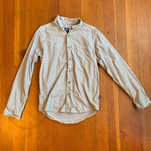 Mens Small Gray Patagonia L/S Bluffside Shirt Grey